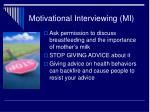 motivational interviewing mi