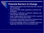 potential barriers to change