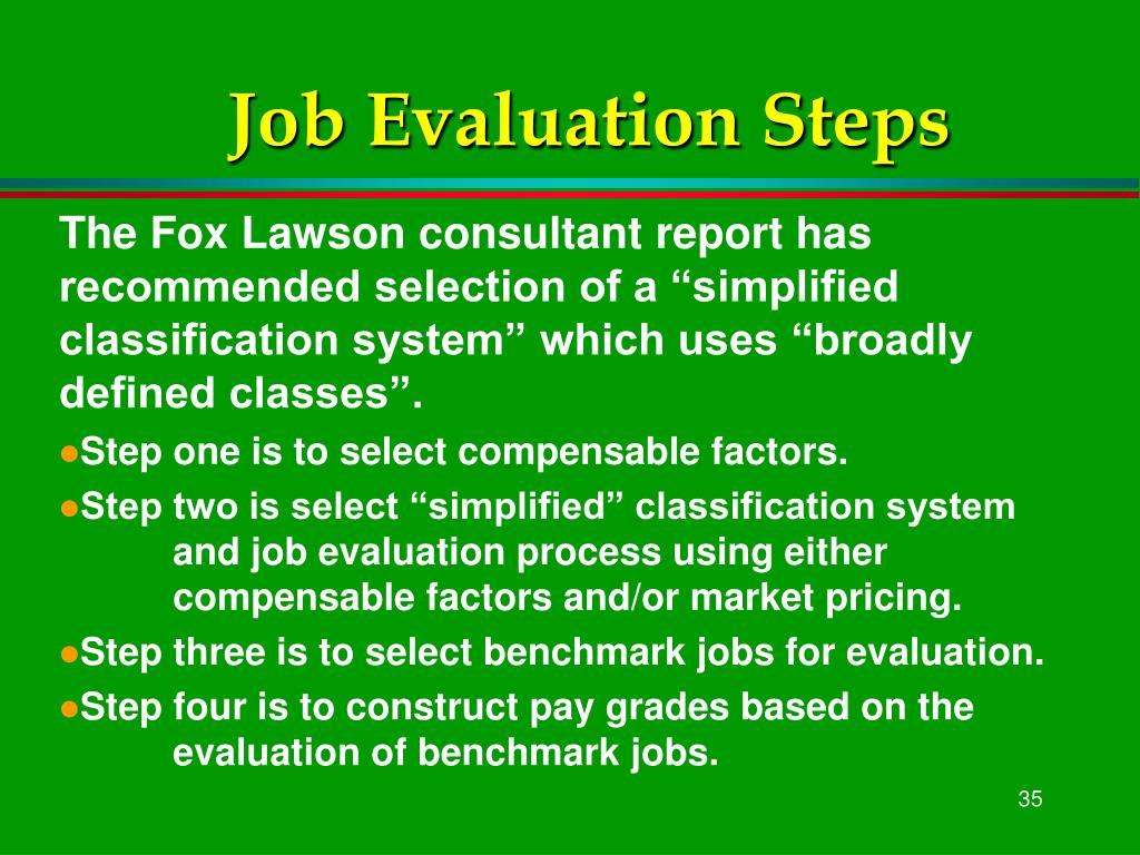 Job Evaluation Steps
