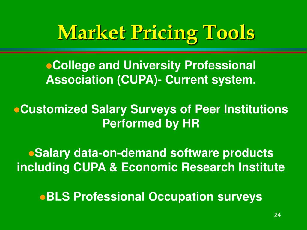 Market Pricing Tools