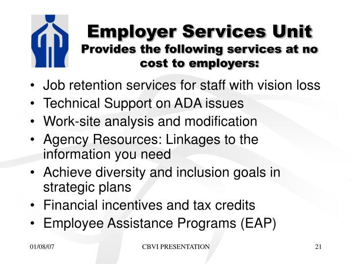Employer Services Unit