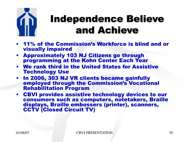 Independence Believe and Achieve