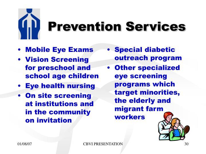 Mobile Eye Exams