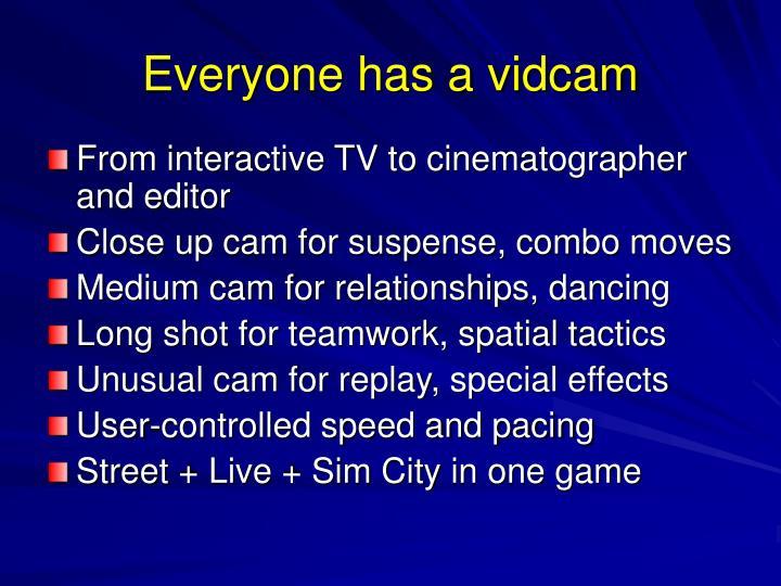 Everyone has a vidcam