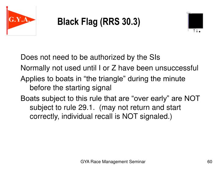 Black Flag (RRS 30.3)