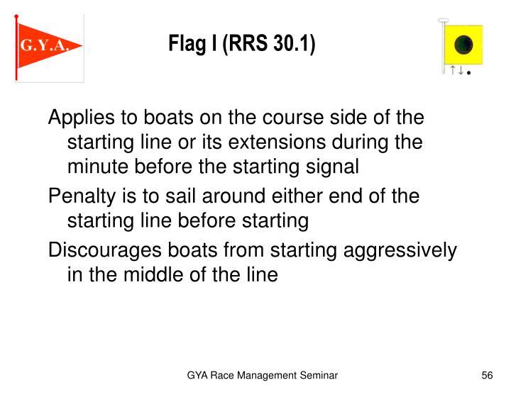 Flag I (RRS 30.1)