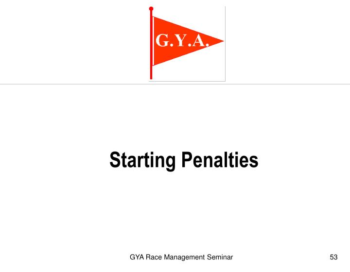 Starting Penalties