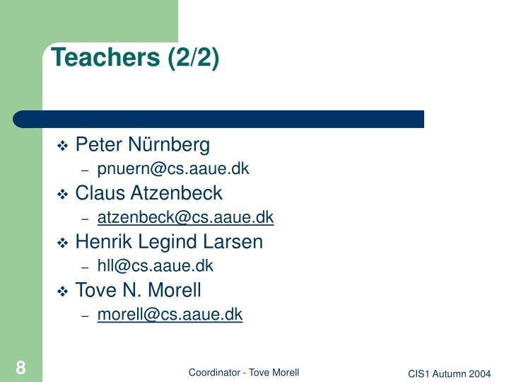 Teachers (2/2)