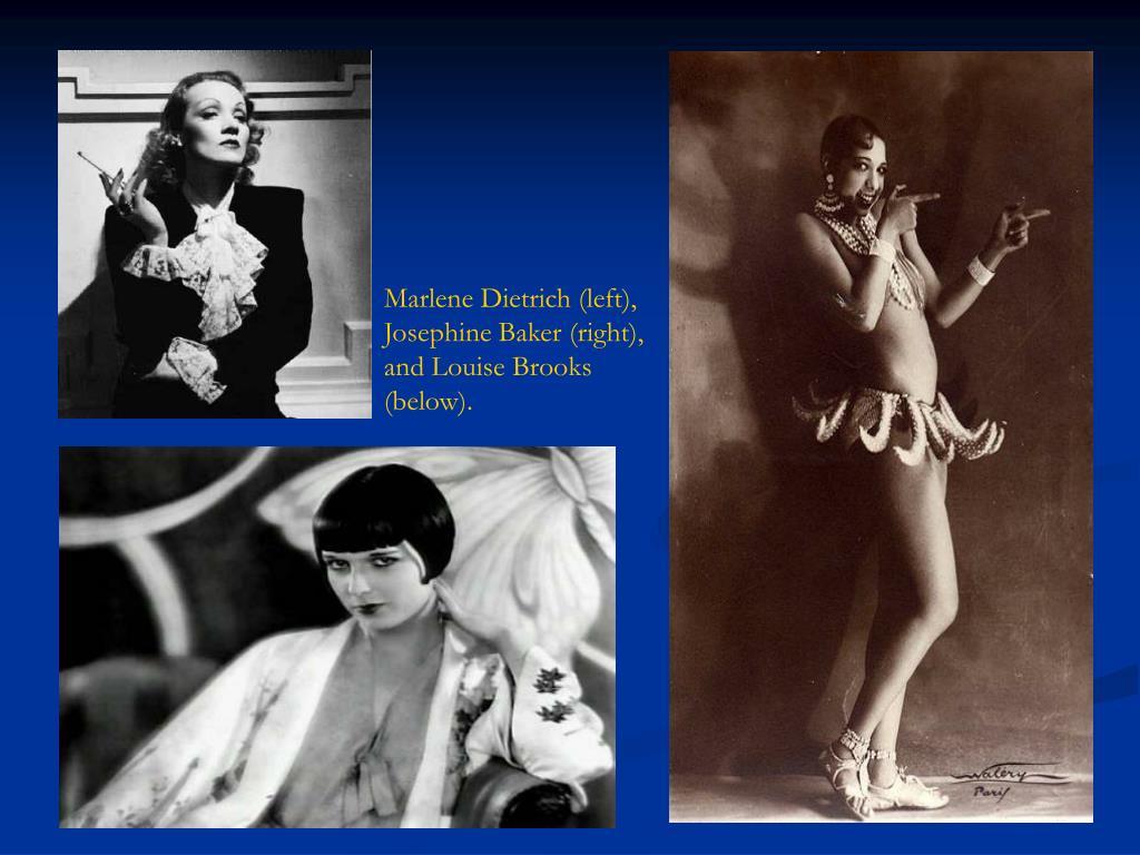 Marlene Dietrich (left),