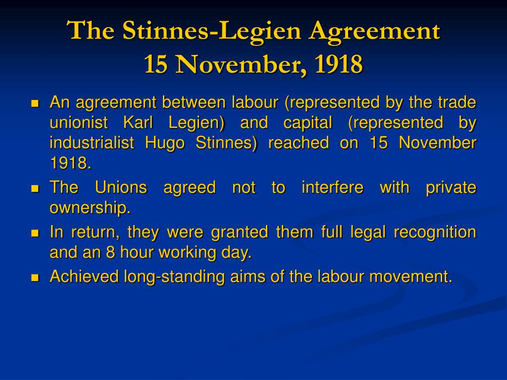 The Stinnes-Legien Agreement