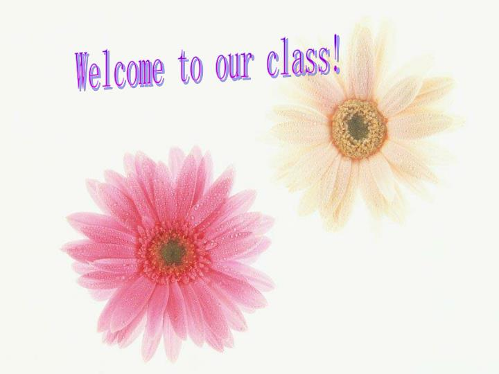 Welcome to our class!