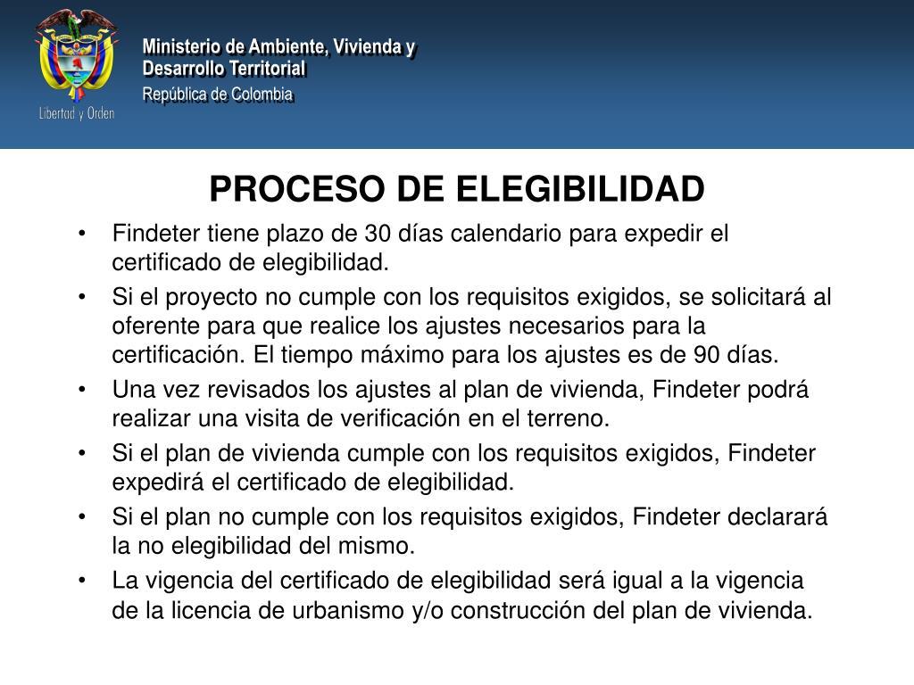 PROCESO DE ELEGIBILIDAD