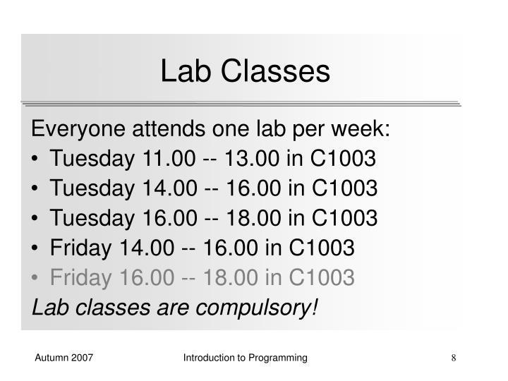 Lab Classes