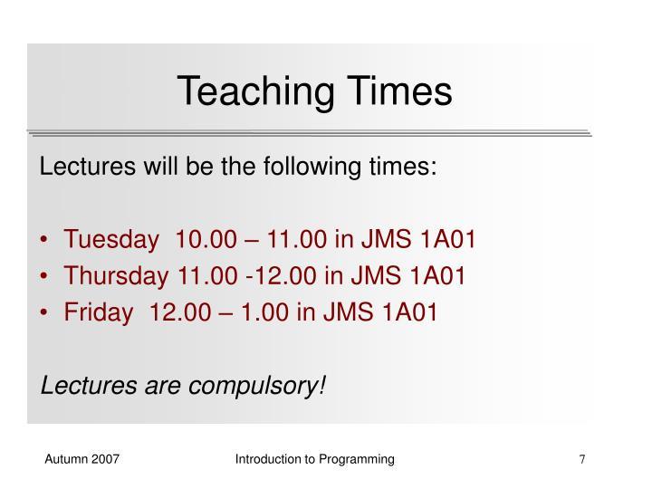 Teaching Times