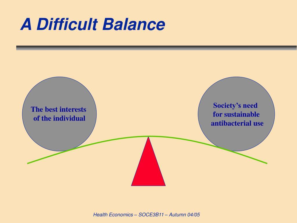 A Difficult Balance