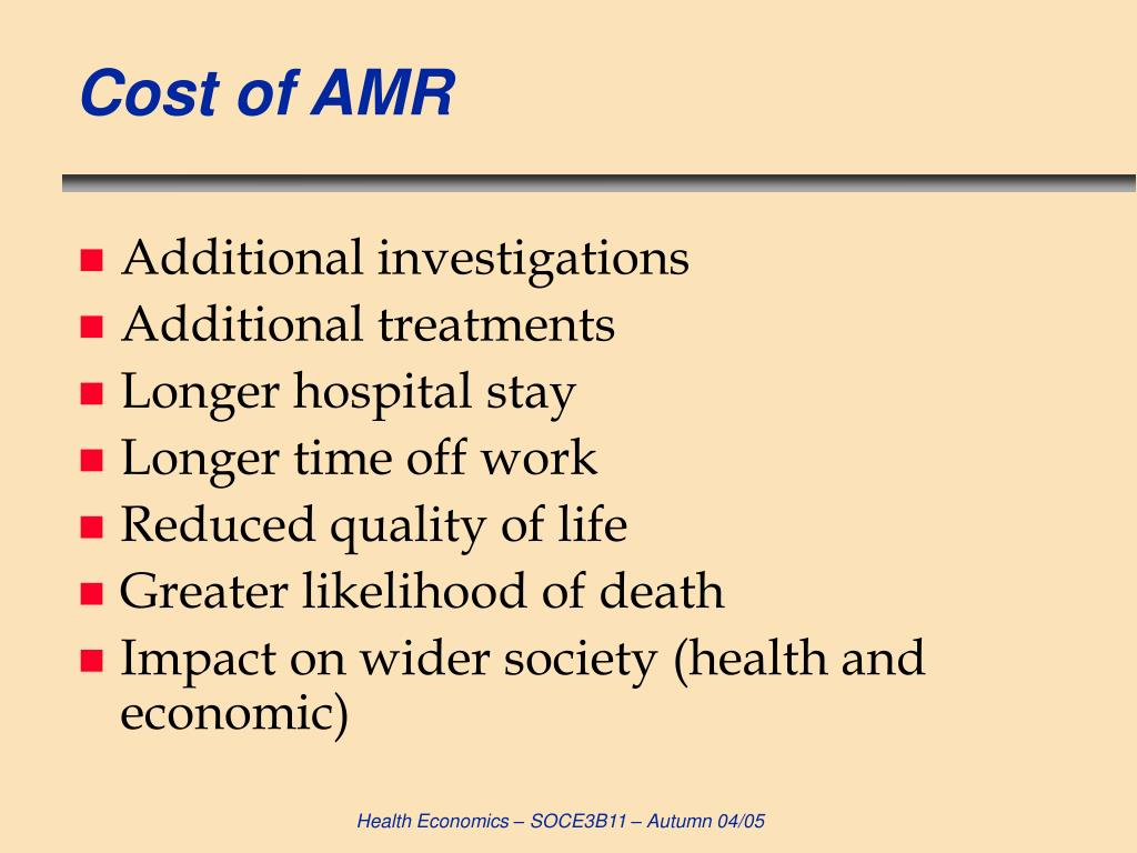 Cost of AMR
