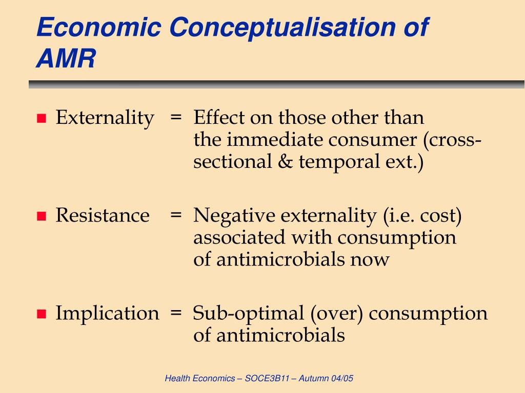 Economic Conceptualisation of AMR