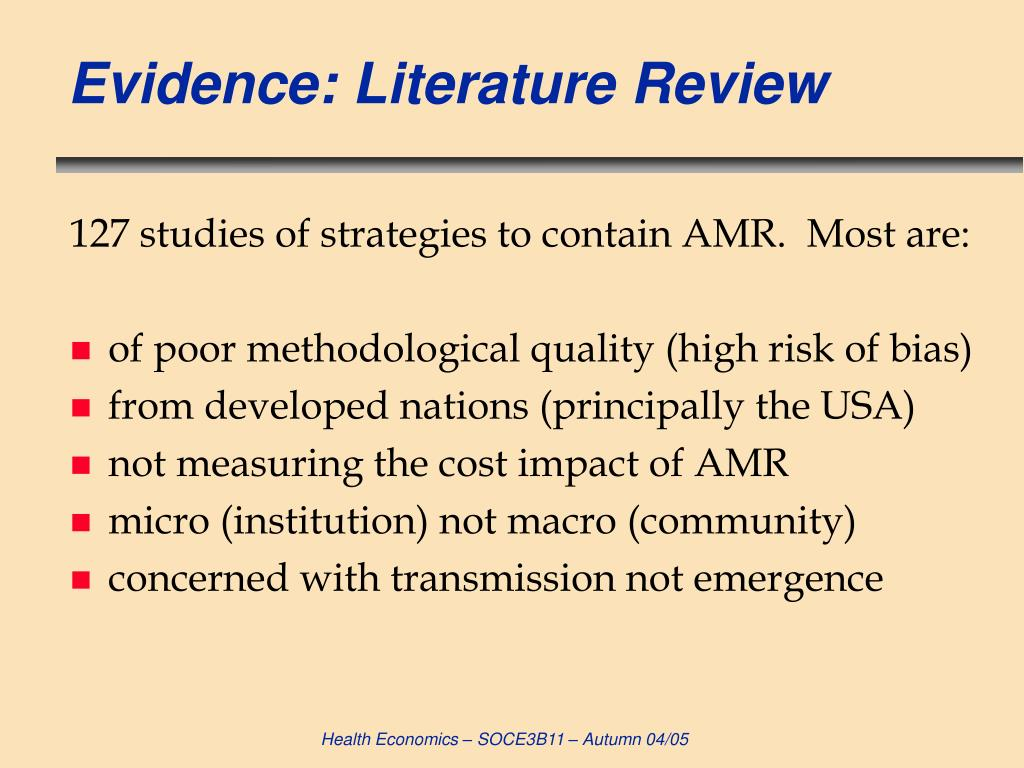 Evidence: Literature Review