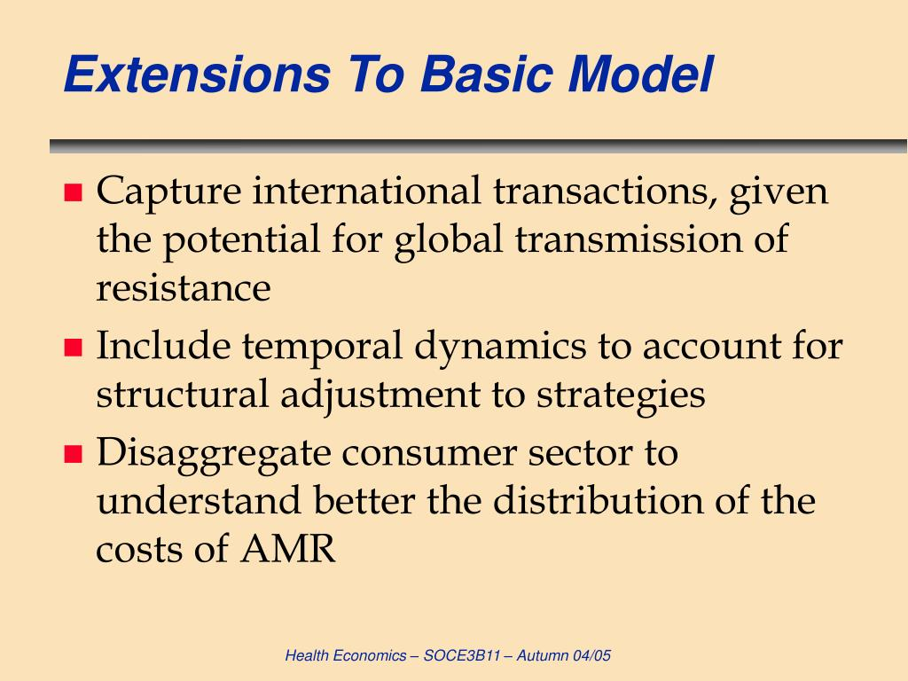 Extensions To Basic Model