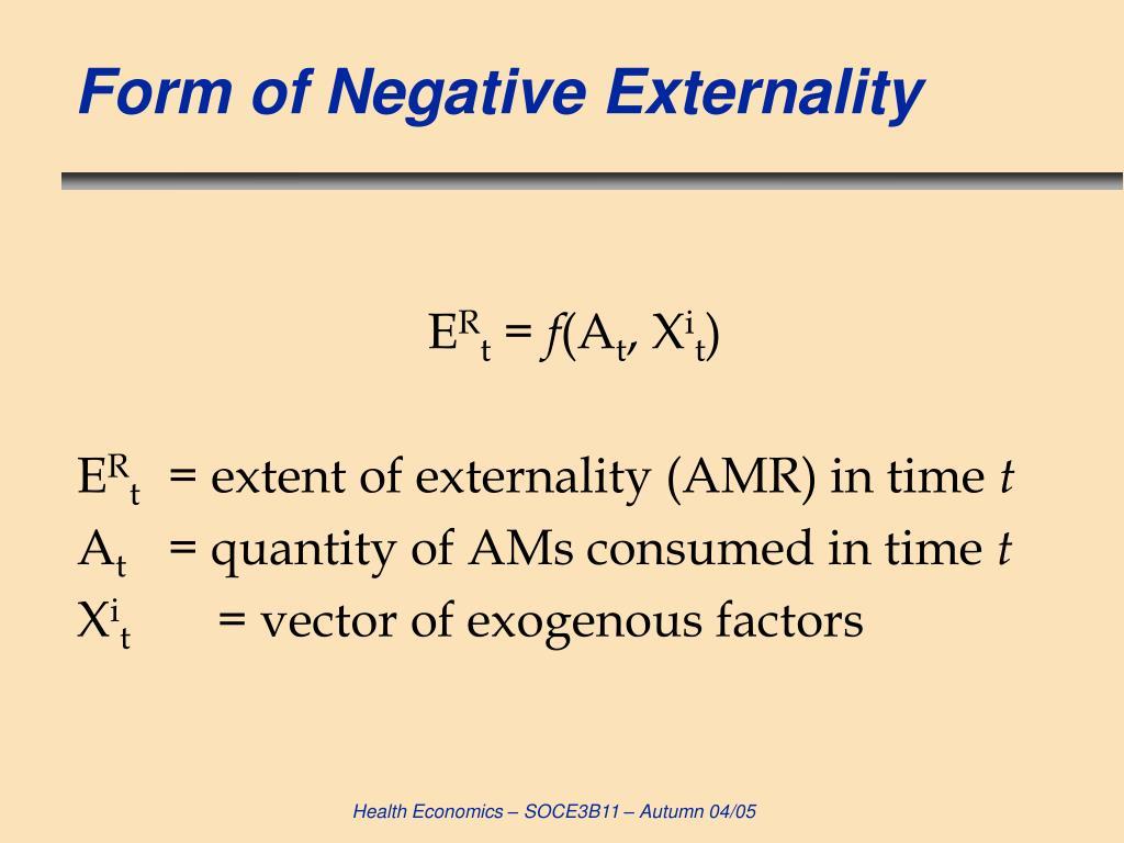Form of Negative Externality