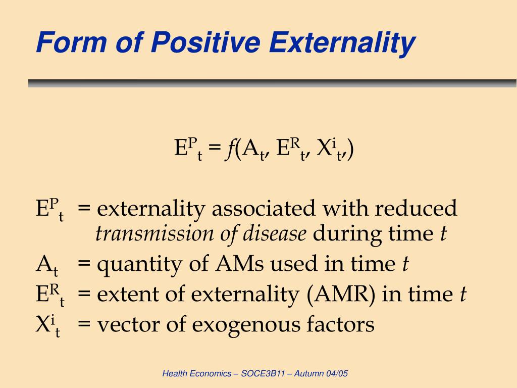 Form of Positive Externality