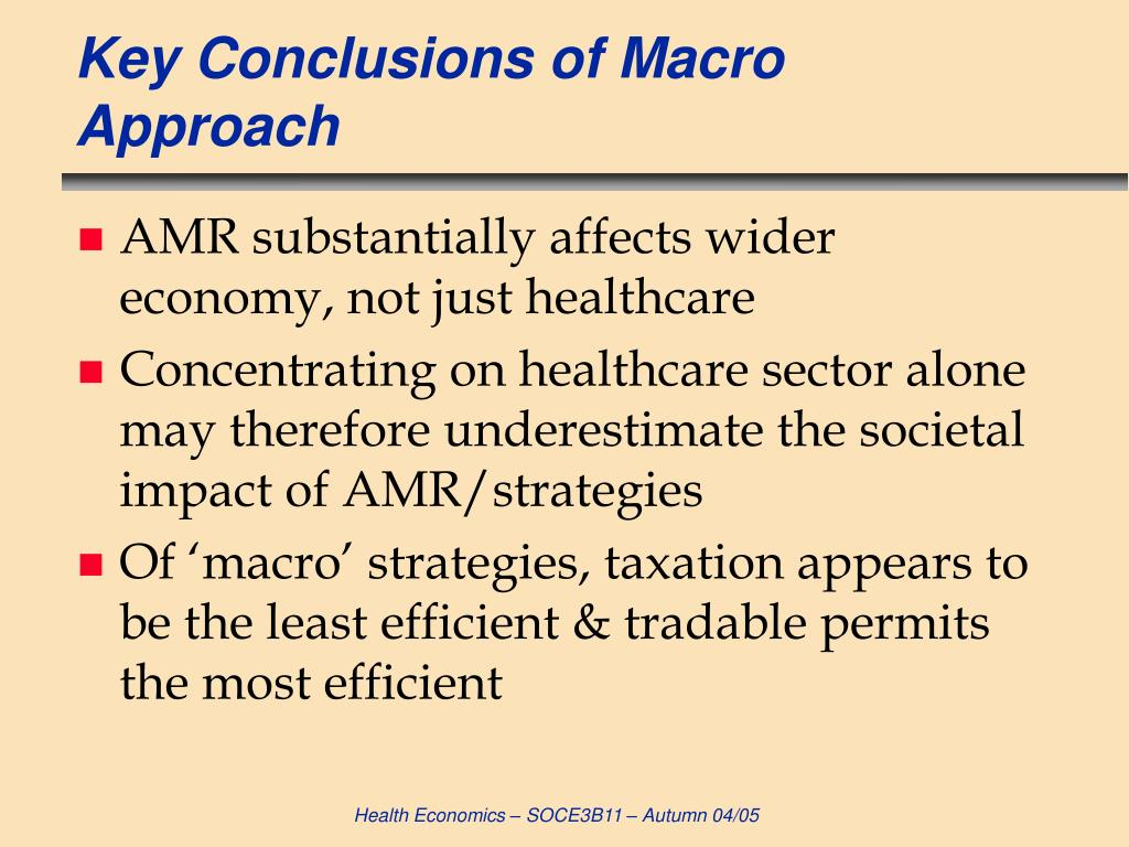 Key Conclusions of Macro Approach