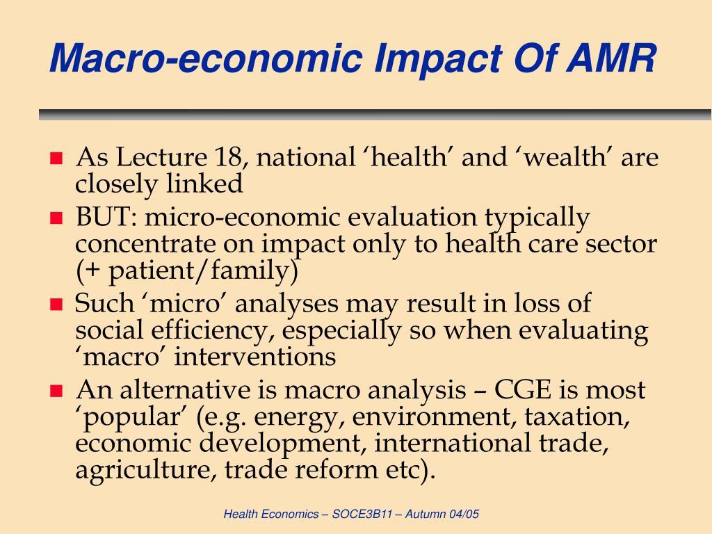 Macro-economic Impact Of AMR