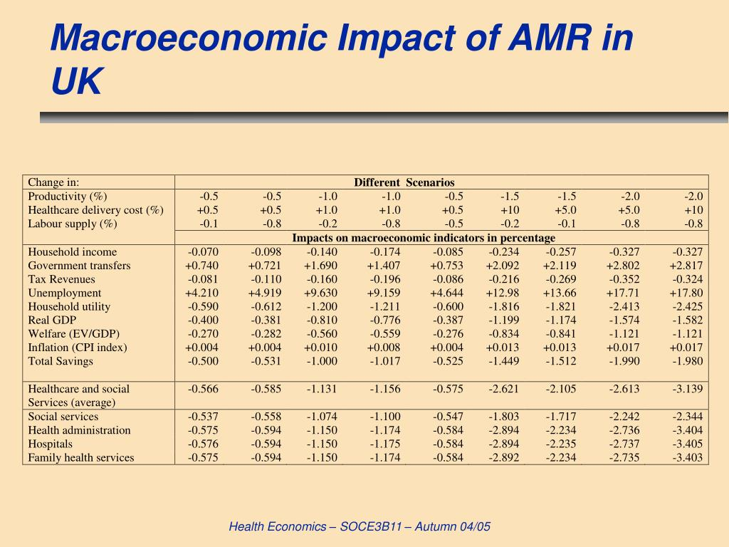 Macroeconomic Impact of AMR in UK