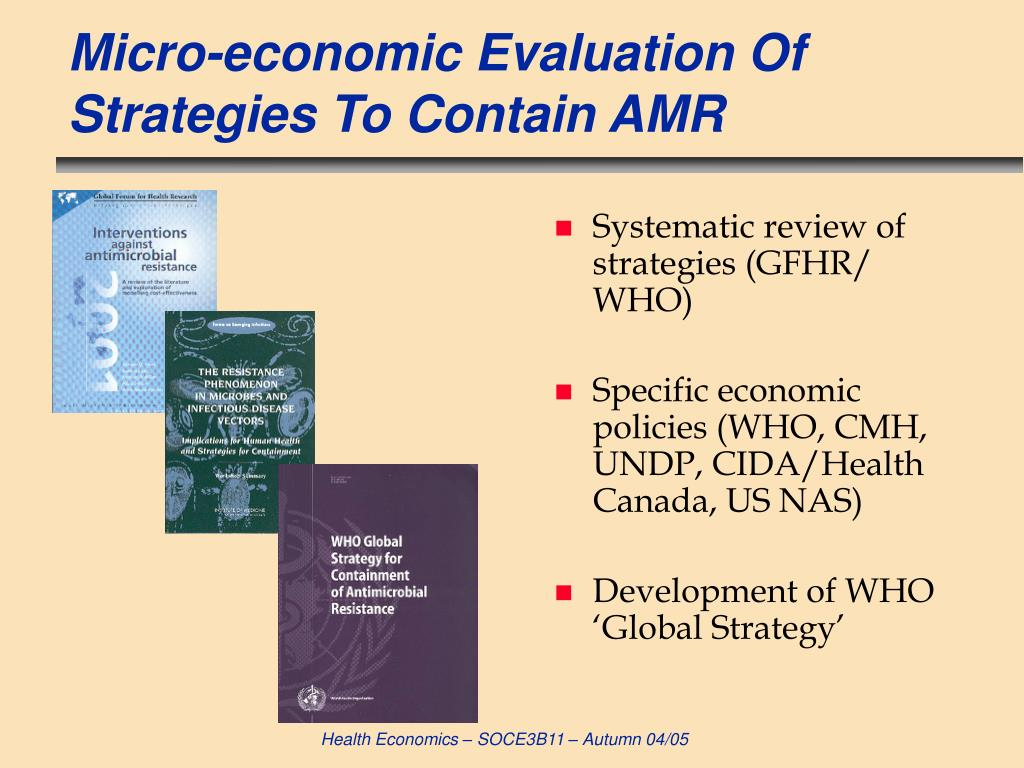 Micro-economic Evaluation Of Strategies To Contain AMR