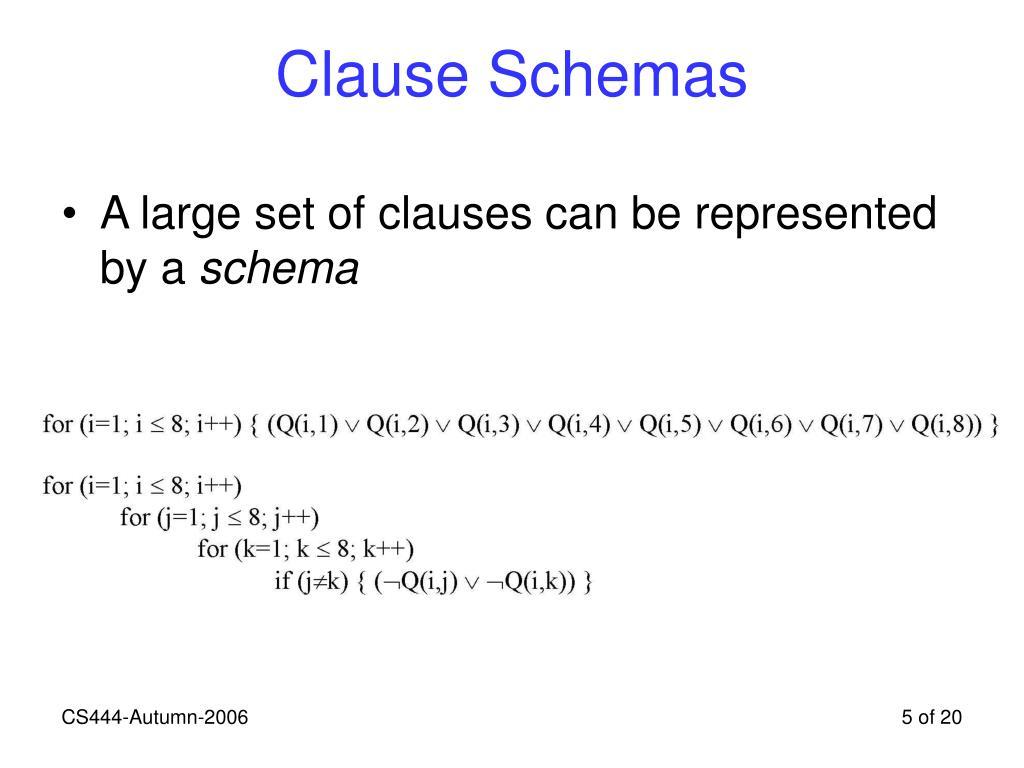 Clause Schemas