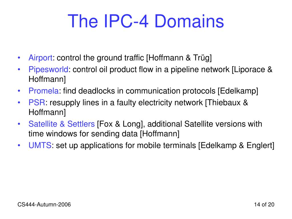 The IPC-4 Domains