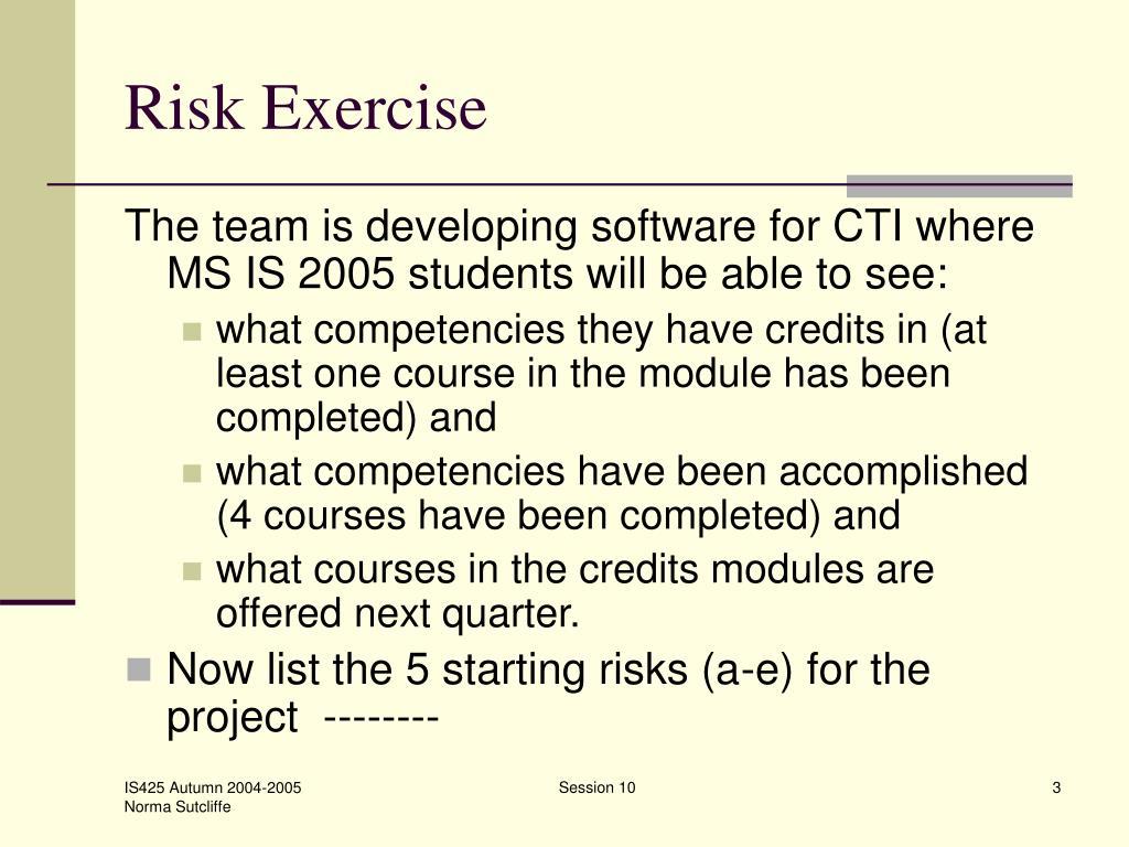 Risk Exercise