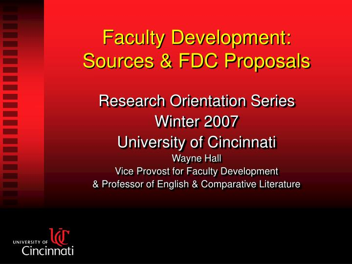 Faculty development sources fdc proposals