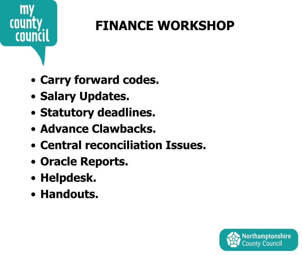 FINANCE WORKSHOP