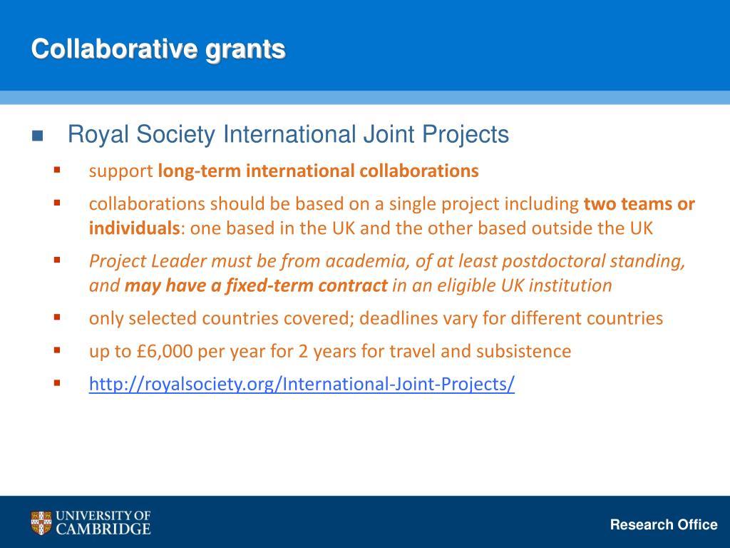 Collaborative grants