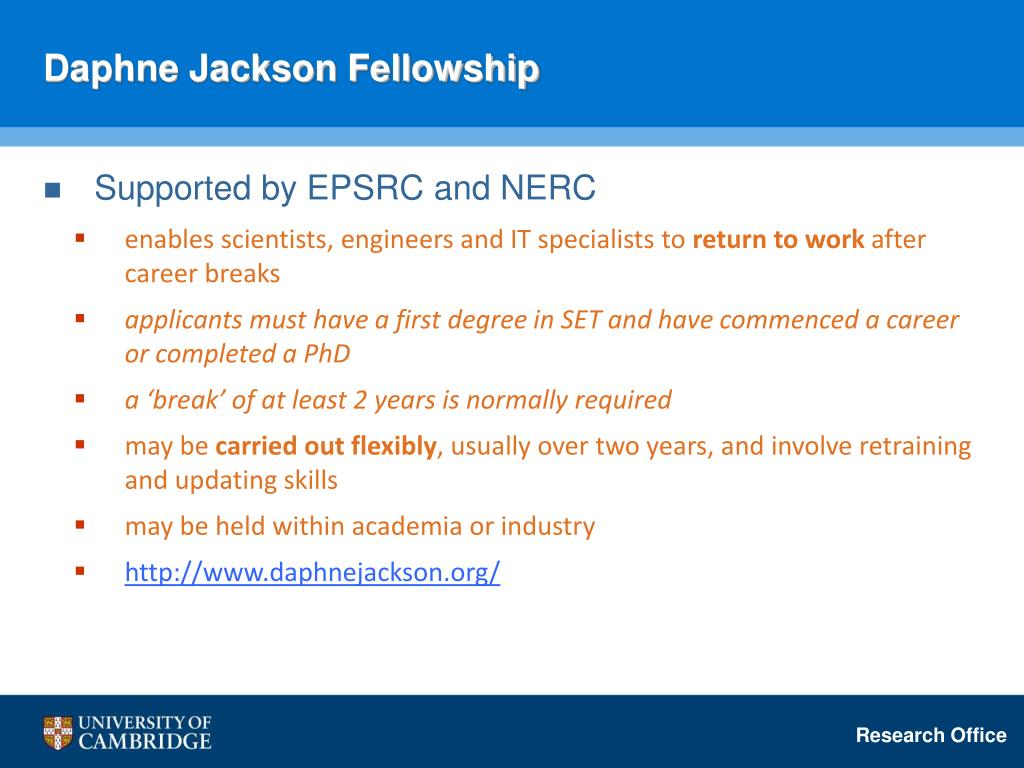 Daphne Jackson Fellowship