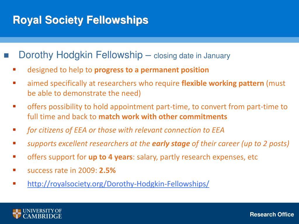 Royal Society Fellowships