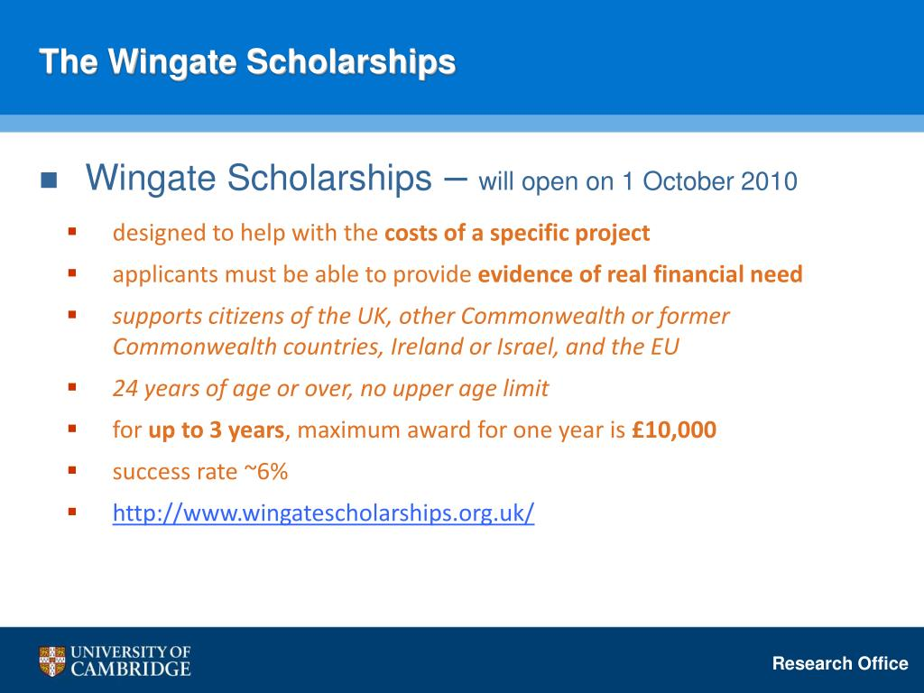 The Wingate Scholarships