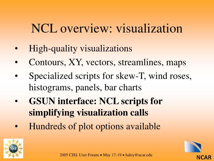 NCL overview: visualization
