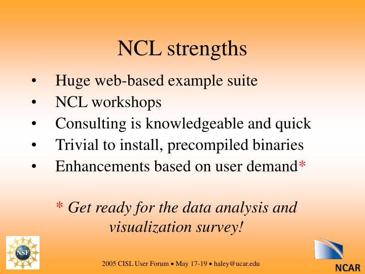 NCL strengths
