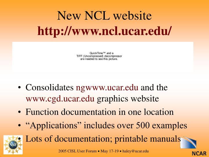 New NCL website