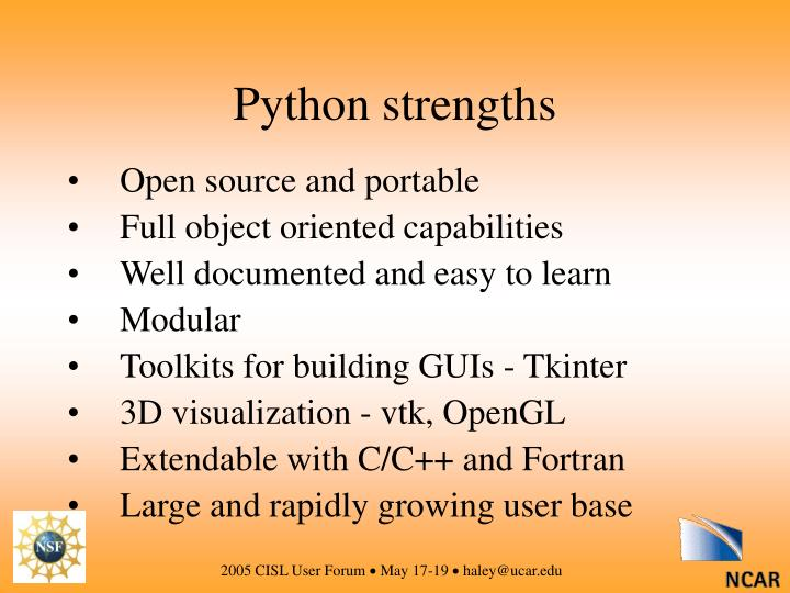 Python strengths