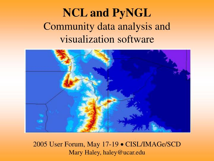 NCL and PyNGL