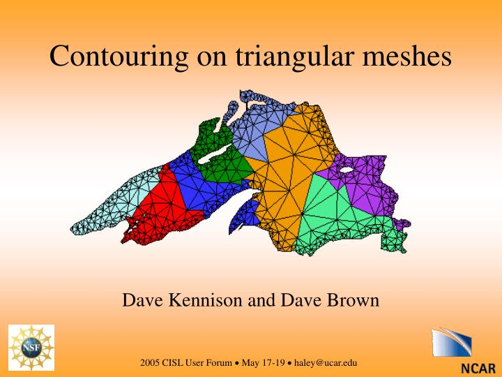 Contouring on triangular meshes