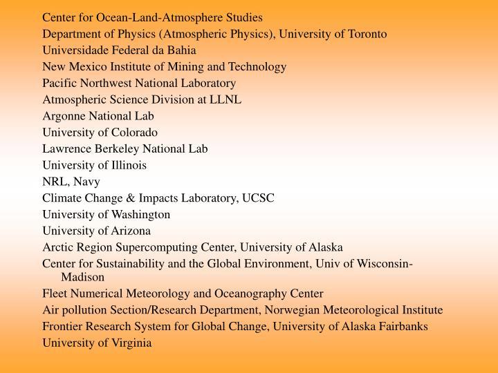 Center for Ocean-Land-Atmosphere Studies