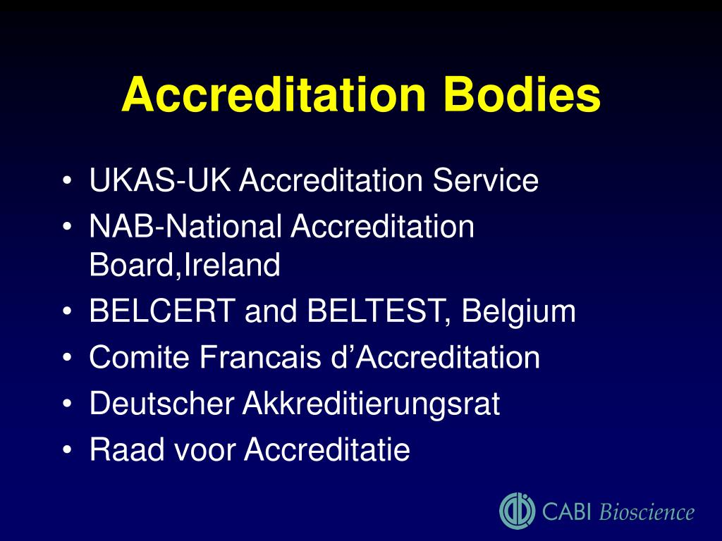 Accreditation Bodies