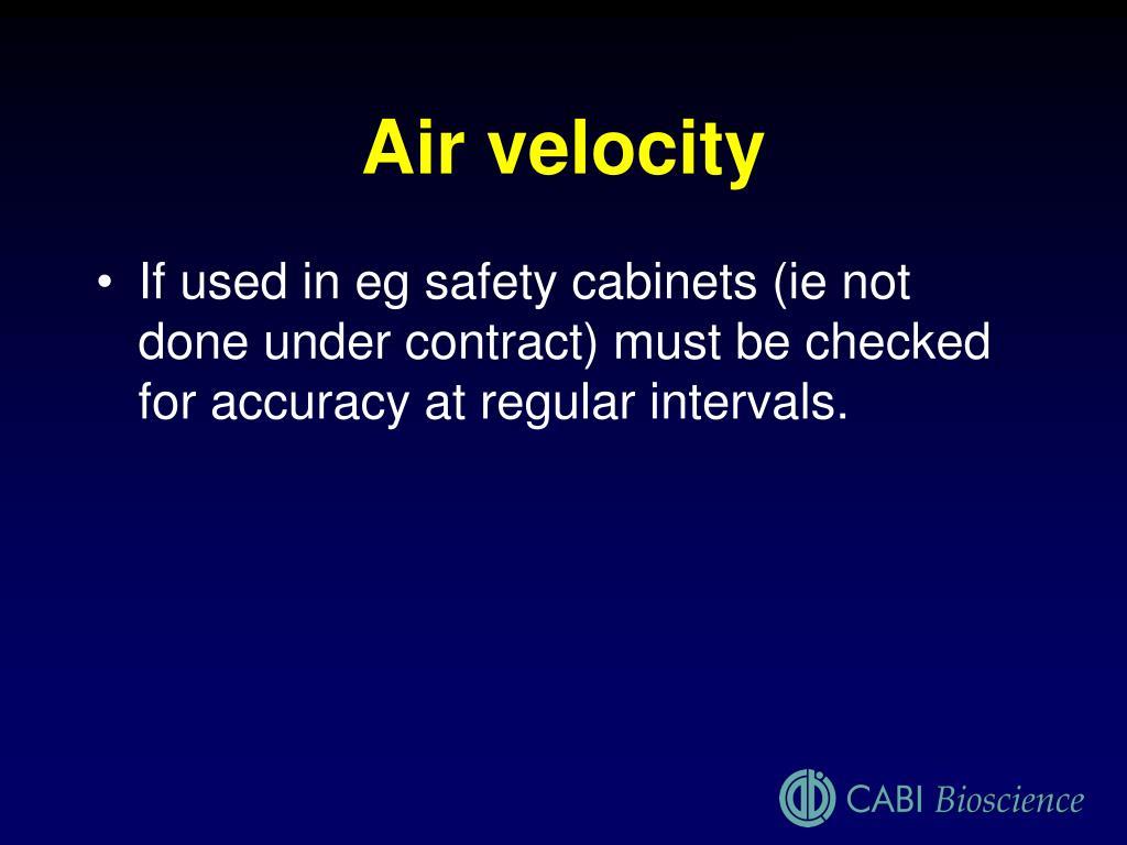 Air velocity