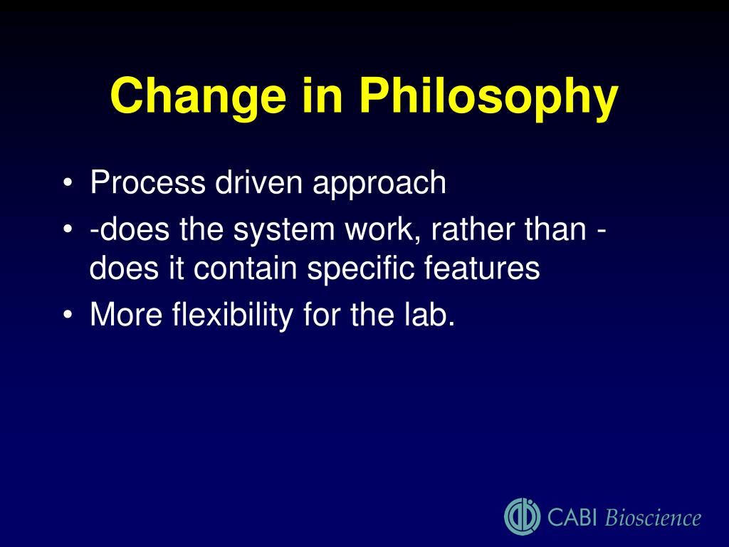 Change in Philosophy