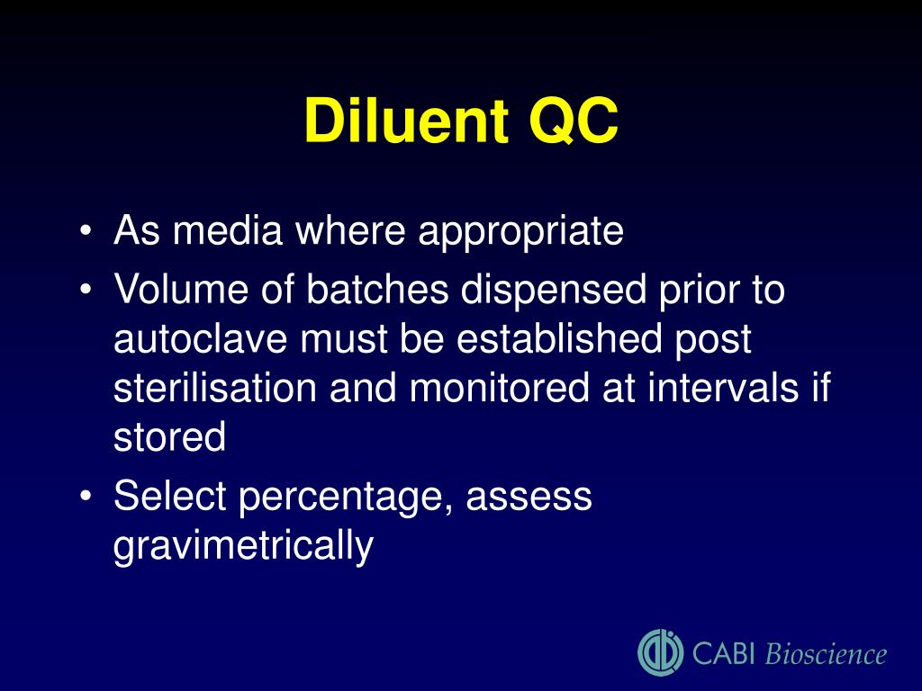 Diluent QC