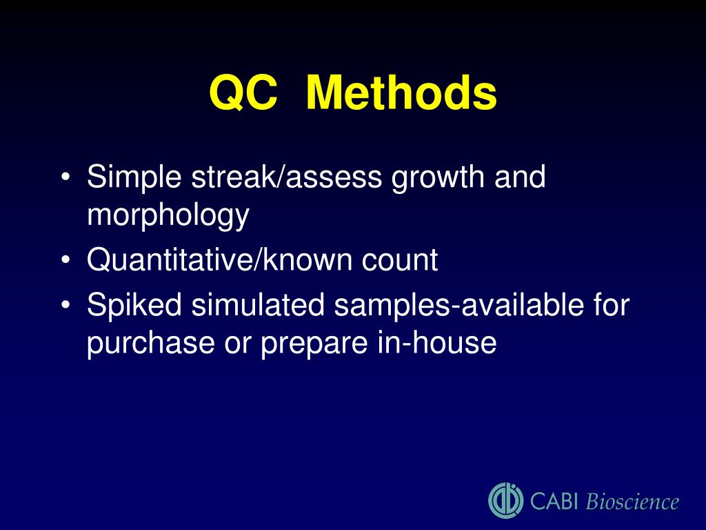 QC  Methods